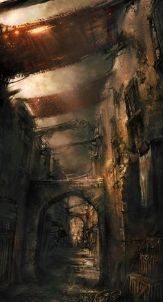 Babylon Alleyway, Prince of Persia: The Two Thrones concept art