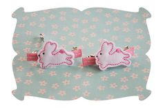 Hippity Hoppity Felt Hair Bow Minis ~ look for our coordinating applique design, sold separately.