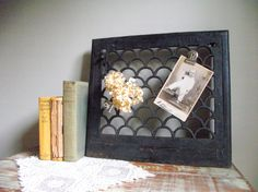 Cast Iron Heat Grate Memo Board Architectural Salvage by gazaboo, $72.00 - Love the idea of an old heat register/grate as a magnetic memo board. I've seen some beautiful ones, and this would be a great use for them.
