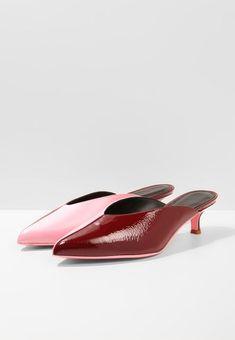 Tibi Pink & Burgundy Slippers