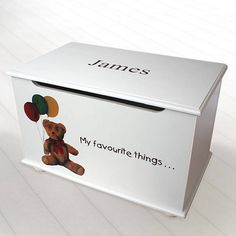 personalised toy box for boys by picture proud personalised gifts   notonthehighstreet.com