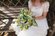 Lighthearted English Barn Wedding; Love this bride's bouquet!