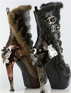 Safari Steampunk Anyone? Steampunk is a rapidly growing subculture of science fiction and fashion. Steampunk Shoes, Style Steampunk, Gothic Steampunk, Steampunk Clothing, Steampunk Fashion, Gothic Fashion, Gothic Shoes, Victorian Gothic, Gothic Metal