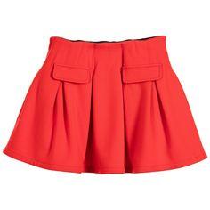 Lili Gaufrette Red Viscose Jersey Skirt with Pleats at http://www.childrensalon.com/#a_aid=51f456f914eb5
