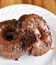 Baked Chocolate Glazed Donut