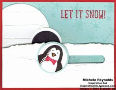 Snow Place Igloo Penguin Spinner Card