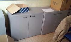 Dar vida a objetos olvidados...: Tuneando muebles de oficina.