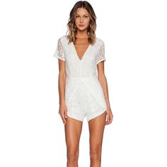 Wilde Heart Laced Up Romper Rompers ($94) ❤ liked on Polyvore featuring jumpsuits, rompers, rompers & jumpsuits, white romper jumpsuit, jumpsuits & rompers, romper jumpsuit, lace jumpsuit and white lace jumpsuit