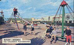 Butlins Skegness - Children's Playground (1960s postcard) by trainsandstuff, via Flickr