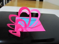 How to make a Heart Pop-Up Love - step by step Photo tutorial - Bildanleitung
