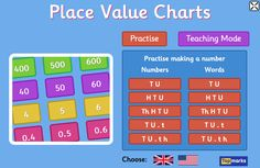 Great for their maths + literacy online games, but also provides links to trustworthy + reliable educational content covering all areas of the curriculum. Has a search feature to make it easy to find games/info for specific subjects and/or Key Stages. Place Value Chart, Math Place Value, Place Values, Math Literacy, Teaching Math, Maths, Learning Games For Kids, Learning Resources, Math Games
