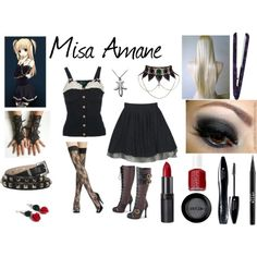 Putting Together Your Cosplay Costume - Maximum Cosplay Easy Cosplay, Casual Cosplay, Cosplay Outfits, Anime Outfits, Cosplay Costumes, Anime Cosplay, Misa Amane Cosplay, Amane Misa, Grunge Goth