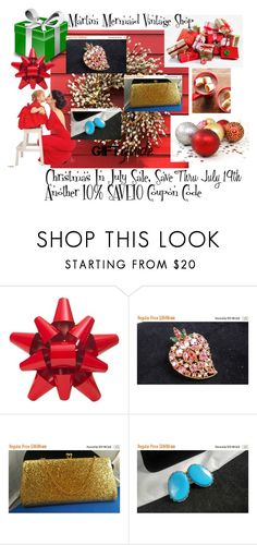 Christmas In July Sale... by martinimermaid on Polyvore featuring CORO, Martha Stewart and vintage