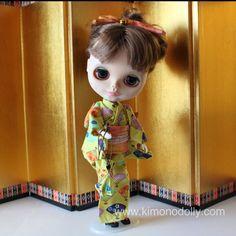 Completo di Yukata (Kimono estivo in cotone) fatto a mano con i tessuti…