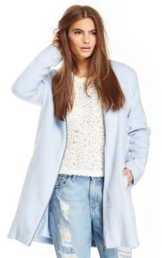 BB Dakota Liezel Coat in sky blue XS - L