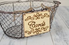 Rustic Wedding Cards Sign 4 x 5  for Your by RiverRoadRustics, $8.95