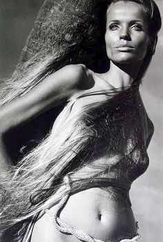 veruschka-the first model along with Jean Simmons, I remember being 'aware' of....