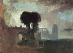 Archway with Trees by the Sea, 1828, William Turner Size: 60x87.5 cm Medium: oil, canvas