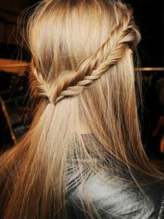 The fishtail braid makes a cool twist on a casual look.