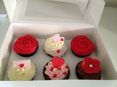 Valentines Day 6 Cupcake Giftbox | Flickr - Photo Sharing!