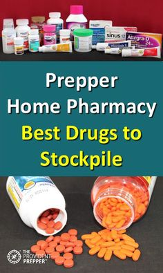 What are the best medications to include in a well-stocked prepper home pharmacy? The best drugs to stock in your prepper medicine cabinet include a combination of over-the-counter and prescription meds. The Best Ideas also for Emergency Preparedness Kit, Emergency Preparation, Survival Prepping, Survival Skills, Survival Gear, Homestead Survival, Wilderness Survival, Survival Shelter, Survival Backpack