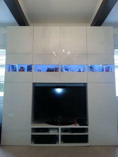 Full wall Besta media unit - IKEA Hackers - IKEA Hackers