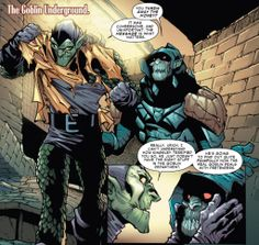 Green Goblin and the Goblin Knight in Superior Spider-Man #24