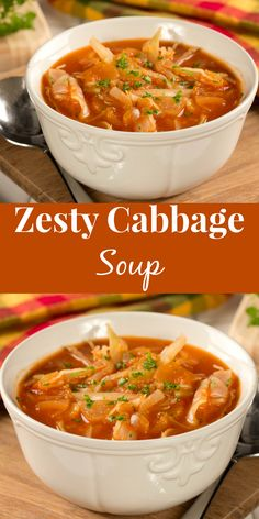 You're going to love the tasty marriage of flavorful and filling ingredients in this Zesty Cabbage Soup!
