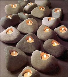 47 Cool DIY Candle and Candle Holder Ideas is part of Diy candles - That is why we have brought to you a flood of candle making projects with our 47 cool DIY candle and candle holder ideas You can recycle many items Stone Crafts, Rock Crafts, Diy And Crafts, Beach Crafts, Cool Diy, Diy Candles, Ideas Candles, Beeswax Candles, Diy Candle Holders