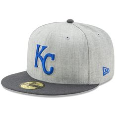 8f045f68503 Men s Kansas City Royals New Era Heathered Gray Graphite Action 59FIFTY  Fitted Hat