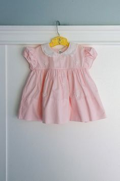 6-12 months: Little Bows Pink Baby Girl Dress with by Petitpoesy