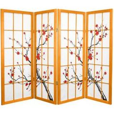 The Oriental Furniture 48 Inch Low Cherry Blossom Shoji Screen Room Divider is a unique way to dress up any space. This divider stands 48 inches tall,. Room Divider Headboard, Metal Room Divider, Office Room Dividers, Room Divider Bookcase, Fabric Room Dividers, Bamboo Room Divider, Wooden Room Dividers, Living Room Divider, 4 Panel Room Divider