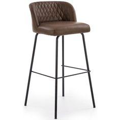 Köp - 899 kr! Orville barstol - Mörkbrun vintage (PU). En fin barstol med en tidlös design. Barstolen är klädd Bar Stools, Vintage, Furniture, Design, Home Decor, Metal, Bar Stool Sports, Decoration Home, Room Decor