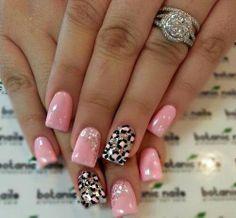 nageldesign sommer leoparden muster pink wei coole n gel pinterest nageldesign sommer. Black Bedroom Furniture Sets. Home Design Ideas