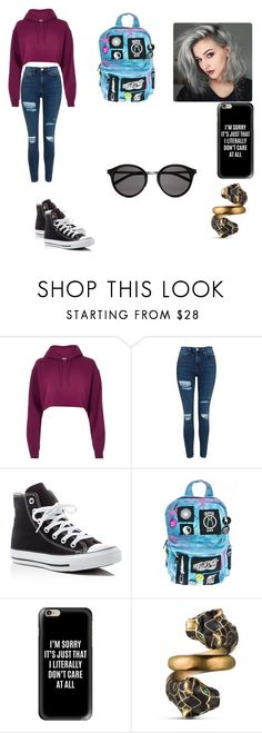 """""""Untitled #35"""" by samanthagardner-1 ❤ liked on Polyvore featuring River Island, Topshop, Converse, Current Mood, Casetify, Gucci and Yves Saint Laurent"""