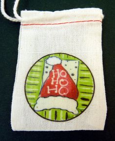 Christmas Gift Bag.  SMALL Muslin Gift Bag or by outspokenjewelry, $2.50