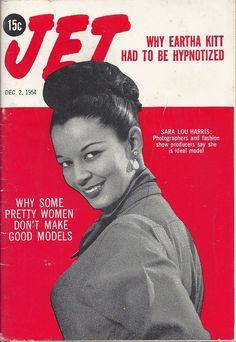 DEC 2 1954 JET MAGAZINE VOL.7 #4 (Sara Lou Harris) Jet Magazine, Eartha Kitt, Music Magazines, Best Model, Made Goods, Black Media, Pretty Woman, 1950s Fashion, Magazine Covers