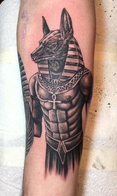 Anubis Egyptian God tattoo on my inner right forearm