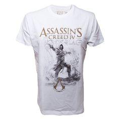 Assassins Creed IV - Sketch Art T-Shirt weiß: Amazon.de: Bekleidung