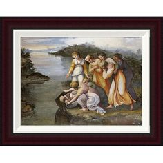 Global Gallery Moses Found in The Bulrushes by Raphael Framed Painting Print Size: