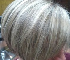 Highlights and lowlights by Amanda. When I was this color, I had many compliments on my gray hair.