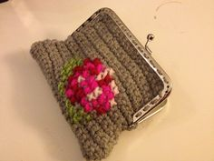 Crochet and cross stitch wallet, made by me