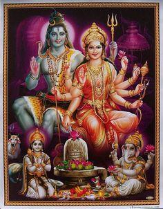 The family: Shiva, Parvati, Ganesha & Kartikey