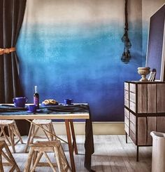 ombre technique and room decorating ideas