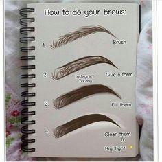 make up Thread Eyebrow Salon Eyebrow Makeup Tips, Makeup Dupes, Skin Makeup, Eyebrow Pencil, How To Makeup, Makeup Basics, Eyebrow Beauty, Makeup Eyebrows, Makeup 101