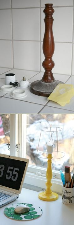 DIY: lamp - i love painting anything and making it new :)