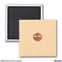 Tiger Face 2 Inch Square Magnet