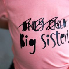 Only Child X BIG SISTER! Perfect for a 2nd pregnancy announcement! Let everyone know your baby girl is going to be a big sister!