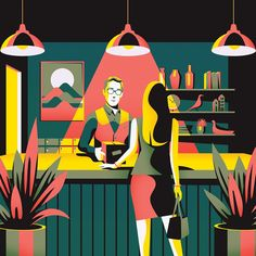 Jack Daly's 'Essential Living' Illustrations Illustration Inspiration, Flat Illustration, Graphic Design Illustration, Graphic Art, Technical Illustration, Jack Daly, Illustrator, Art Vintage, Porno