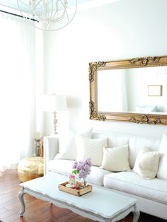 White Feminine Living Room